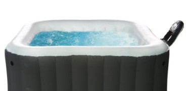 M Spa Model B-90 Apline Hot Tub, 62 by 62 by 27-Inch, Black