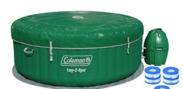 Coleman Lay-Z Spa Inflatable Hot Tub with Six Filter Cartridges
