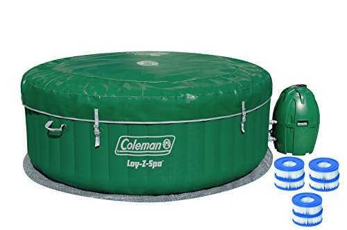 coleman lay z spa inflatable hot tub with six filter. Black Bedroom Furniture Sets. Home Design Ideas